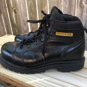 Caterpillar Steel Toed Leather Work Boots Size 8
